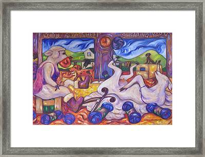 Wool Industry Woes Framed Print by Dianne  Connolly