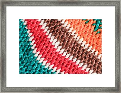 Wool Knitwear Framed Print