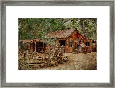 Wool Shed Framed Print by Fred Larson