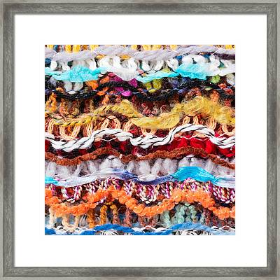 Wool Threads Framed Print by Tom Gowanlock