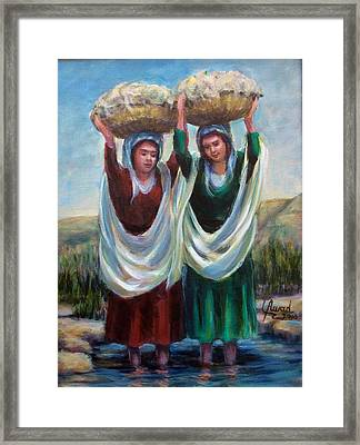 Wool Washers Framed Print by Laila Awad Jamaleldin