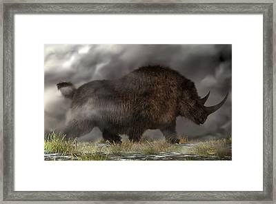 Woolly Rhinoceros Framed Print