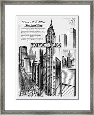 New York Woolworth Building 75 Framed Print