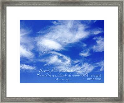 Framed Print featuring the photograph Wooly Fleeces by Gwyn Newcombe