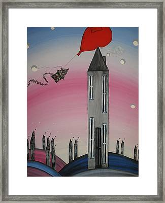 Woops Pop Framed Print