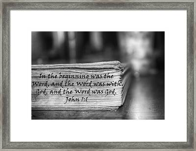 Word Bw Framed Print by Angelina Vick