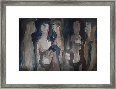 Wordless People Framed Print by Horst Braun