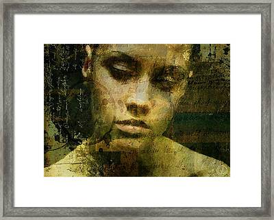 Words Are Just Words Framed Print by Gun Legler
