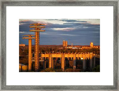 Word's Fair Pavilion Framed Print