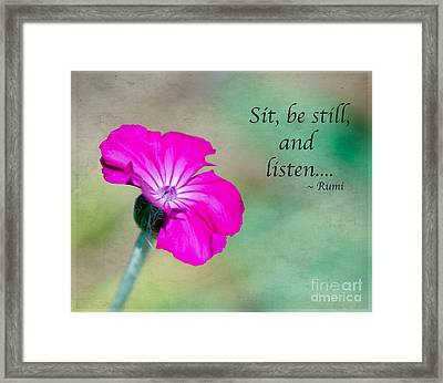 Words From Rumi Framed Print