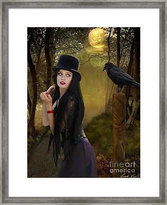 Words Of The Crow Framed Print by Linda Lees