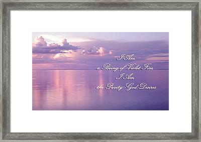 Words Of Violet Fire Mantra Framed Print