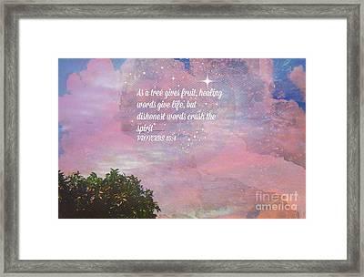 Words Of Wisdom Framed Print by Sherri's Of Palm Springs