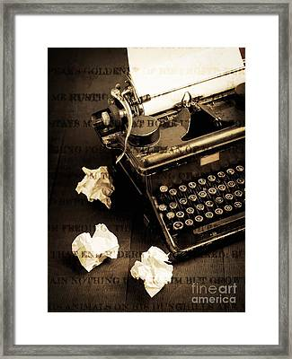 Words Punched On To Paper Framed Print by Edward Fielding
