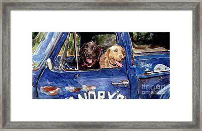 Work And Play Framed Print by Molly Poole