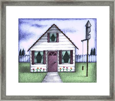 Work At Home Framed Print by Steve Dininno