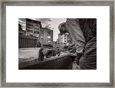 Work Bw Framed Print by Mustafa Otyakmaz