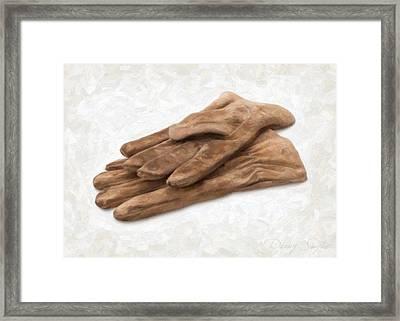 Work Gloves Framed Print by Danny Smythe