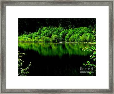 Work In Green Framed Print