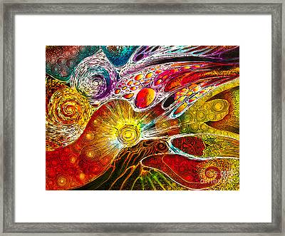 Work On Batik Painting Abstract Colorful Framed Print