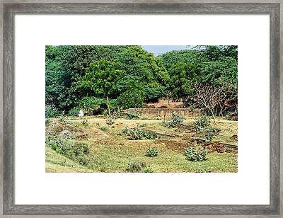 Work Place For Making Fuel Framed Print by Linda Phelps