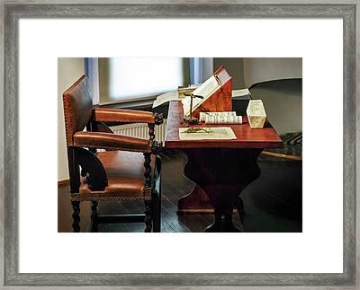 Work Room In Copernicus's House Framed Print
