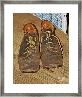 Work Shoes Framed Print