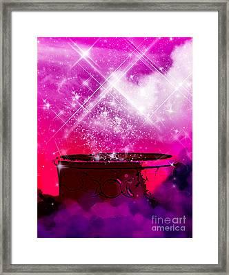 Work The Magic Framed Print