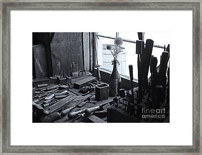 Workbench Framed Print by David Rucker