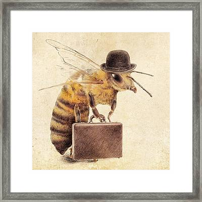 Worker Bee Framed Print by Eric Fan