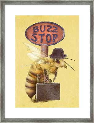 Worker Bee Yellow Option Framed Print by Eric Fan