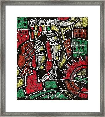 Industrial Composition Framed Print by Leon Zernitsky