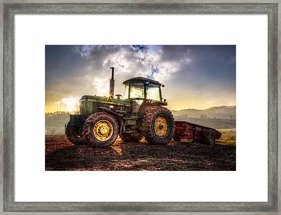 Workhorse II Framed Print by Debra and Dave Vanderlaan