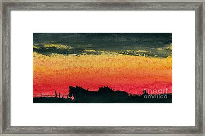 Workin' Together Framed Print by R Kyllo