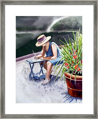 Working Artist Framed Print
