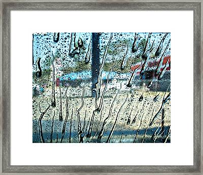 Working At The Carwash Framed Print by Mitford Fontaine