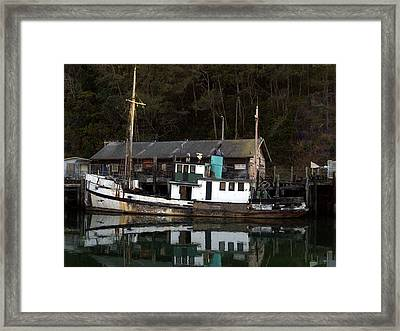 Working Boat Framed Print by Bill Gallagher