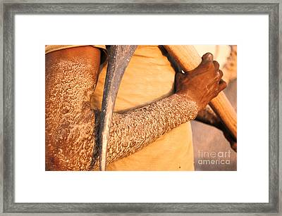 Working Conditions Framed Print by Franck Metois
