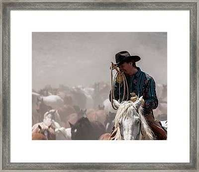 Working Cowboy Framed Print