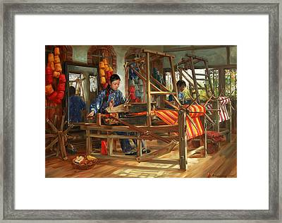 Working Day Framed Print by Victoria Kharchenko