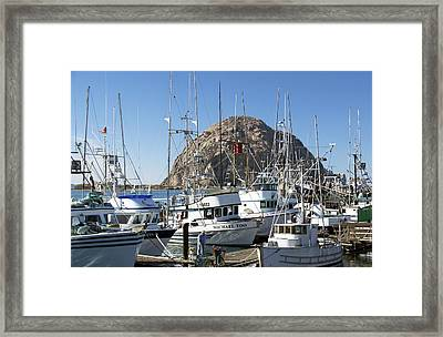 Working Dock At Morro Bay 2 Framed Print