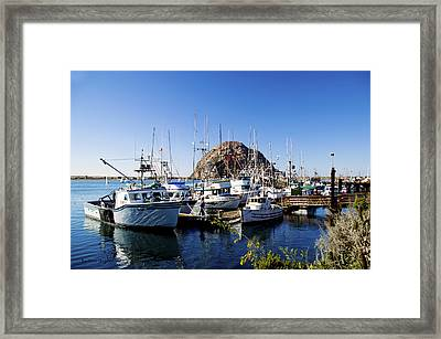 Working Dock At Morro Bay Framed Print
