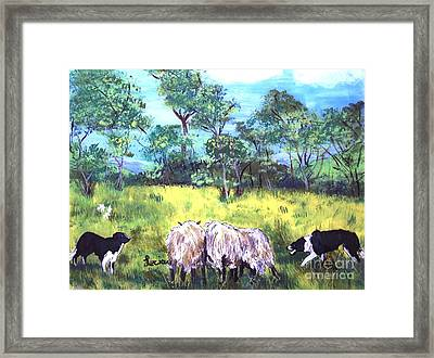 Working Dogs Framed Print