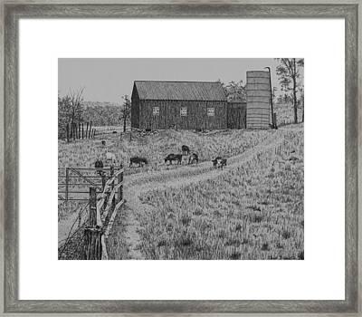 Working Farm Framed Print