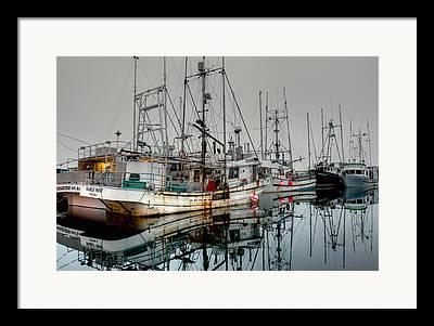 French Creek Marina Framed Prints