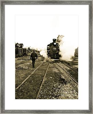 Working For The Railroad Framed Print by Robert Frederick