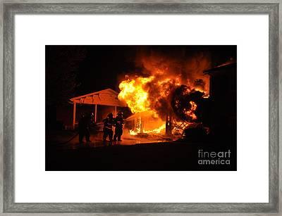 Working Garage Fire Framed Print by Steven Townsend