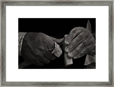 Working Hands Framed Print