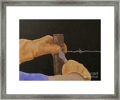 Working Hands Framed Print