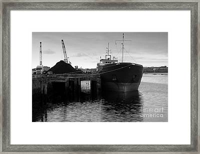 Working Harbour Framed Print by Frank Anthony Lynott